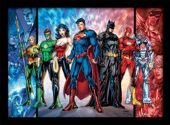 DC Comics - Justice League United Poster Emoldurado