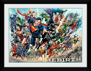 DC Universe - Rebirth Poster Emoldurado