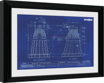 Doctor Who - Dalek Blueprint Poster Emoldurado