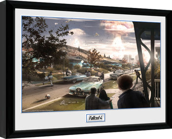 Fallout 4 - Sanctuary Hills Panic Poster Emoldurado