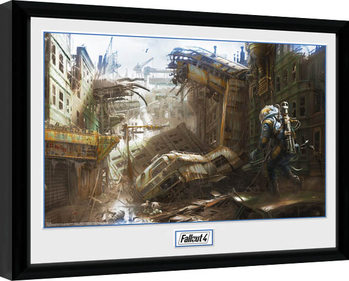 Fallout 4 - Vertical Slice Poster Emoldurado