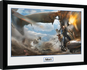 Fallout 4 - Virtibird Door Gunner Poster Emoldurado