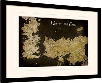 Game of Thrones - Westeros Poster Emoldurado