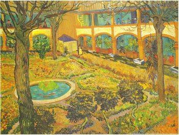 Reprodução do quadro Garden of the Hospital in Arles, 1889
