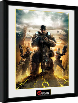Gears of War - Gears 3 Poster Emoldurado