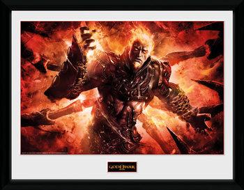God of War - Ares Poster Emoldurado