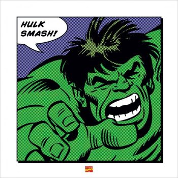 Reprodução do quadro Hulk - Smash