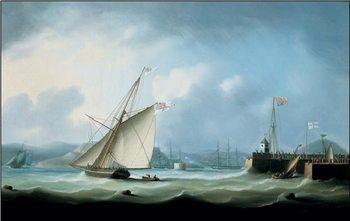 Reprodução do quadro Leith Harbour