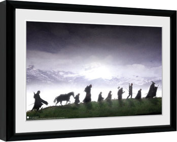Lord Of The Rings - Fellowship Poster Emoldurado