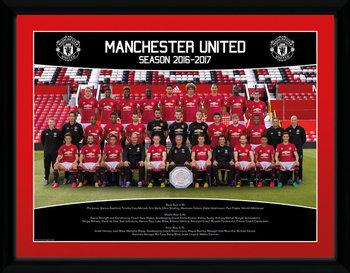 Manchester United - Team Photo 16/17 Poster Emoldurado