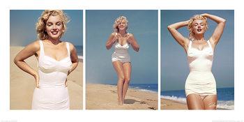 Reprodução do quadro Marilyn Monroe - Beach Triptych