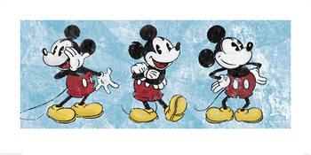 Reprodução do quadro Mickey Mouse - Squeaky Chic Triptych