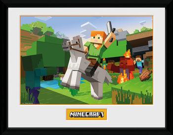 Minecratf - Zombie Attack Poster Emoldurado