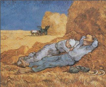 Reprodução do quadro  Noon: Rest from Work, 1890