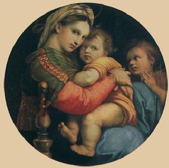 Reprodução do quadro Raphael Sanzio - Madonna della seggiola, 1514
