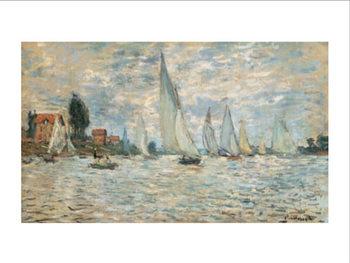 Reprodução do quadro Regattas, Boats at Argenteuil, 1874