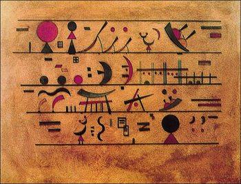 Reprodução do quadro Righe di segni - Rows of Signs