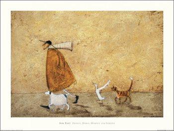 Reprodução do quadro Sam Toft - Ernest, Doris, Horace And Stripes