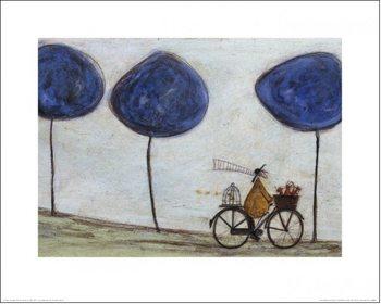 Reprodução do quadro Sam Toft - Freewheelin' with Joyce Greenfields and the Felix 3