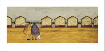 Reprodução do quadro Sam Toft - Looking Through The Gap In The Beach Huts
