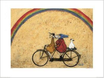 Reprodução do quadro Sam Toft - Somewhere Under a Rainbow