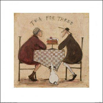 Reprodução do quadro Sam Toft - Tea for Three 2