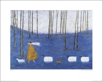 Reprodução do quadro Sam Toft - Tiptoe Through The Bluebells