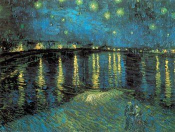 Reprodução do quadro Starry Night Over the Rhone, 1888