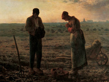 Reprodução do quadro The Angelus - L'angelus