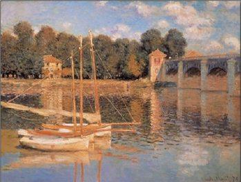 Reprodução do quadro The Argenteuil Bridge, 1874