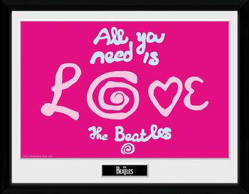 The Beatles - All You Need Is Love Poster Emoldurado