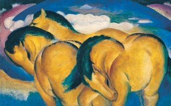 Reprodução do quadro The Little Yellow Horses - Franz Marc