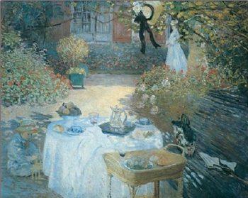 Reprodução do quadro The Lunch (in the Garden), 1872