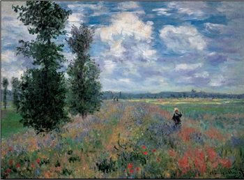 Reprodução do quadro The Poppy Field in Summer near Argenteuil