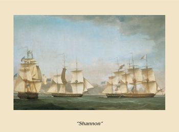 Reprodução do quadro The Ship Shannon