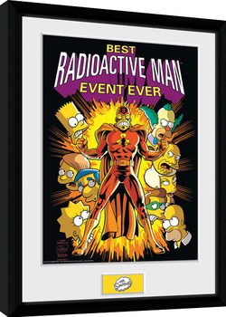 The Simpsons - Radioactive Man Poster Emoldurado