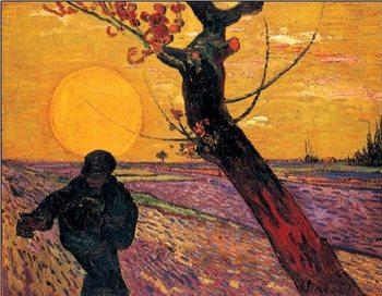 Reprodução do quadro  The Sower, 1888