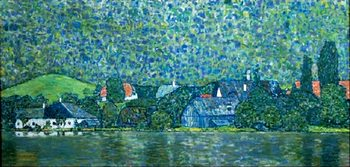 Reprodução do quadro Unterach on Lake Attersee, Austria (part)