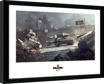 World of Tanks - German Tanks Poster Emoldurado