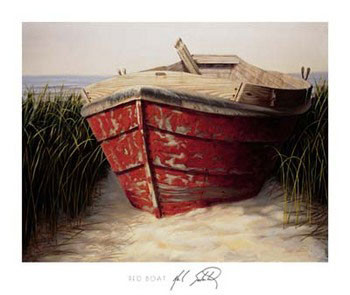 Red Boat Reproduction d'art
