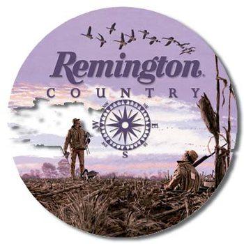 REMINGTON COUNTRY Plaque métal décorée