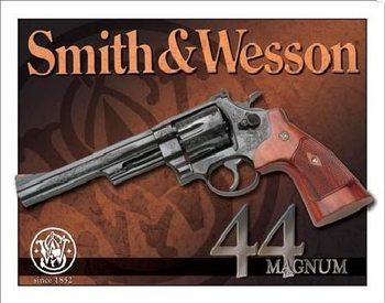S&W - 44 magnum Plaque métal décorée