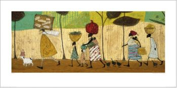 Sam Toft - Doris helps out on the trip to Mzuzu Reproduction