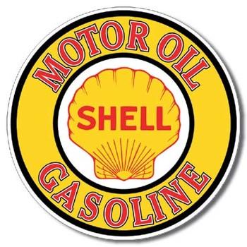 SHELL GAS AND OIL Plaque métal décorée