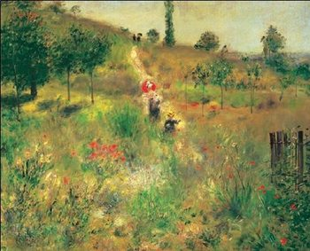 Slightly Uphill Path in the Countryside, 1875 Reproduction d'art