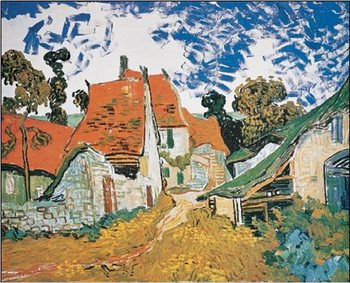 Street in Auvers-sur-Oise, 1890 Reproduction d'art