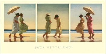 Summer Days Triptych Reproduction