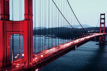 Tableau sur verre Golden Gate - San Francisco