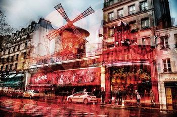 Tableau sur verre Paris - Moulin Rouge