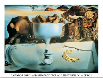 Apparition of Face and Fruit Dish on a Beach, 1938 Taide